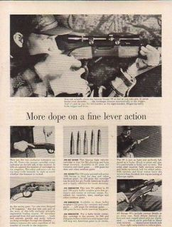 1956 SAVAGE AD MODEL 99 MORE DOPE ON FINE LEVER ACTION