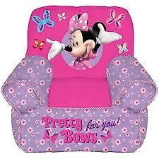 Disney Minnie Mouse Toddler Bean Bag Chair Polyfill filling WITH FREE