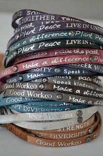 New Good Work(s) Humanity For All  Vintage Wrap Bracelets w