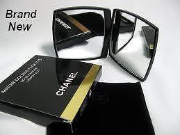 CHANEL Compact Mirror Stylish Elegant Normal & Magnifying Handbag