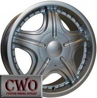18 Silver Sendel S06 Wheels Rims 5X112/5X114.3 5 Lug Mercedes Audi