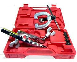 DOUBLE DUAL FLARING TOOL KIT SET FOR AUTO CAR BRAKE LINE TUBING TUBE