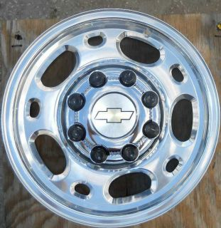 Alloy Wheels with OEM Bowtie Caps for Chevy Silverado 2500 NEW