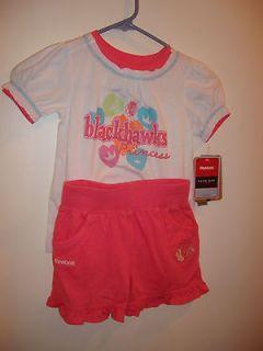 Girls 4T CHICAGO BLACKHAWKS Princess Pink Short Set Reebok NWT
