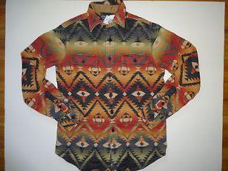 New Ralph Lauren Polo Heavy Flannel indian Print Shirt. XL
