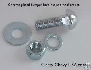 1942 54 Chevy CAR Truck Chrome bumper bolts new set 10