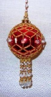 X241 Bead PATTERN ONLY Beaded Jewel Christmas Ornament Cover