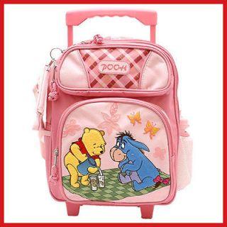 Winnie the Pooh Friends with Eeyore 12 Roller Backpack PINK Bag