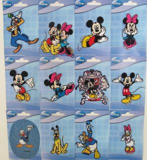 Disney Mickey Mouse & Friends Iron On Motif Choice Of 12 Designs
