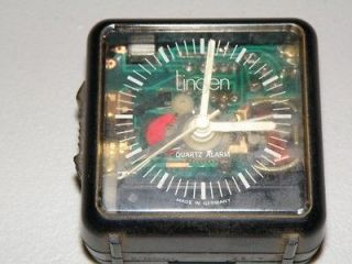 Rare Linden skeleton quartz travel alarm works well please LOOK