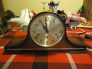 Vintage Linden Black Forest 8 Day Multi Chime Mantle Clock Beautiful