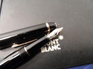 Classique Meisterstuck Chopin Fountain Pen Black Gold Model 145 Broad