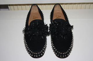 Christian Louboutin Mens Suede Tassel Shoes Size 42(UK 8) RRP £1075