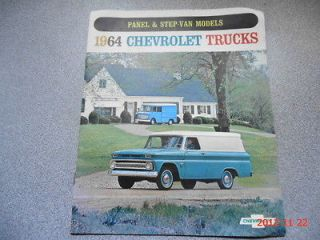 1964 64 Chevrolet Chevy PANEL Truck STEP VAN BROCHURE
