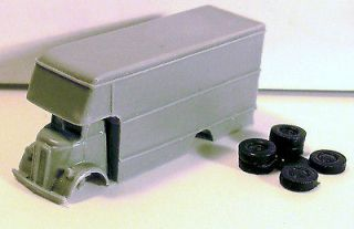 1937 38 CHEVROLET COE MOVING VAN~1:160th/N SCALE~SOLID RESIN PLASTIC