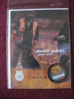 2004 Print Ad Kodiak Smokeless Tobacco ~ Morning Workout Hunters w
