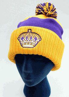 New Los Angeles Kings Beanie Hip Hop Knitted Bobble Hats Wool Ski Cap