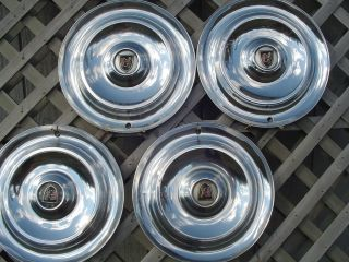 1956 CHRYSLER NEW YORKER FIFTH AVE HUBCAPS WHEEL COVERS ANTIQUE