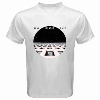 New BLUE OYSTER CULT Metal Rock Band Album Music Mens White T Shirt