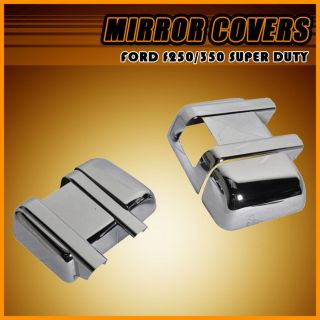F250/F350/F450 SUPER DUTY ABS CHROME SIDE MIRROR COVER CAP TOP+BOTTOM