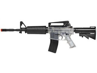 Tactical Force TF4 Carbine Clear Airsoft AEG Rifle Full  & Semi Auto