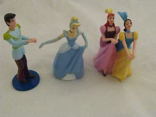 Disney Princess Cinderella Prince Stepsisters Figures PVC Cake Toppers