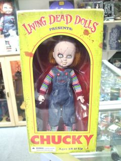 CHUCKY CHILD PLAY LIVING DEAD DOLLS FIGURE 10 iches tall by MEZCO