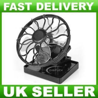 New Sun Solar Powered Cooling Fan Clip On Mini Solar Panel Cell UK