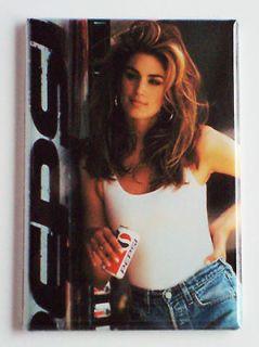 Cindy Crawford Pepsi FRIDGE MAGNET soda sign cola 90s bottle can