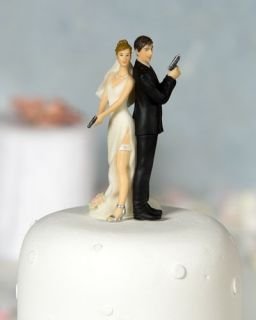 Super Sexy Spy Funny Wedding Cake Topper