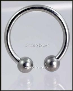 HORSESHOE   Prince albert   2.4MM X 19MM / 2.0x 17MM 316L