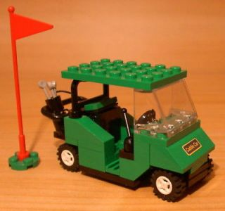 COOL CUSTOM GOLF CART for town/city/club/train LEGO green golfer gift