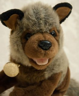Dan Dee Plush WOLF CUB GRAY BROWN BLACK COLLECTORS CHOICE