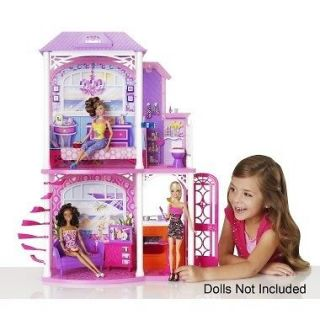 BARBIE 2 Story Vacation Beach House DollHouse PlaySet  Mattel W3155