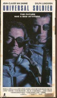 Universal Soldier (VHS, 1992) Jean Claude Van Damme DOLPH LUNDGREN See