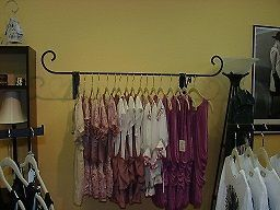 Clothing Garment Retail Display Rack Wall Mount Decorative Hang rail