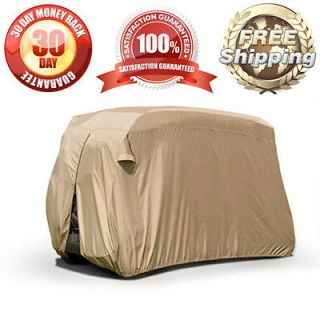NEW GOLF CART BEIGE STORAGE COVER FITS MOST 4 SEATER EZ GO CLUB CART