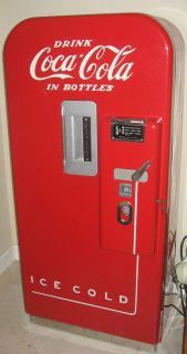 Coke Machine Vendo 39 Vintage Coca Cola Dispneser Fresh Paint Florida