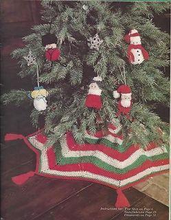 Crochet Pattern Adorable Christmas Tree Skirt Finished sz 46 Diameter