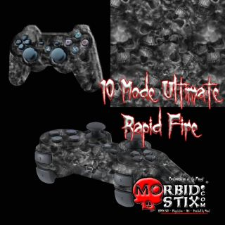 MorbidStix Custom PS3 Controller   Ghost Reapers   10 Mode Ultimate
