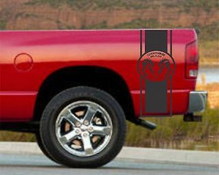 VINYL GRAPHICS DECAL STICKER TRUCK BED RACING STRIPE DODGE RAM 10