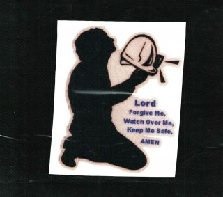 Praying Miner With Verse Coal Mining Stickers