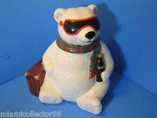 VINTAGE COCA COLA BEAR COOKIE JAR HOLLYWOOD HOLIDAY CHRISTMAS