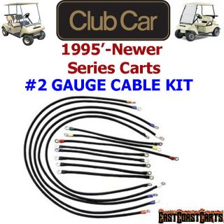 Club Car DS Series Golf Cart # 2 Gauge 600 volt Battery Cable Set