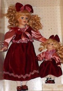Collectors Choice Genuine Fine Bisque Porcelain Doll Set of 2 Ltd Ed