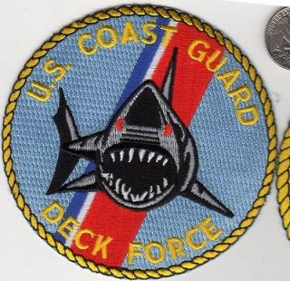 US Coast Guard DECK FORCE PATCH Ship Helicopter Air Sea Rescue Shark