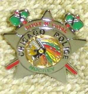 Chicago Police Blackhawks Badge Lapel Tie Pin Hockey Team