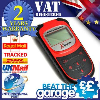 OBD2 Diagnostic Scanner Scan Tool Fault Code Reader UK Designed