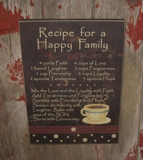 Wood Plaque/Box Sign*Family Recipe*Coffee Cup*Gift 4 Friend/Sister/Mom