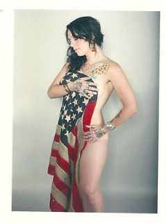 DANIELLE COLBY CUSHMAN Sexy American Pickers American Flag HQ Fridge